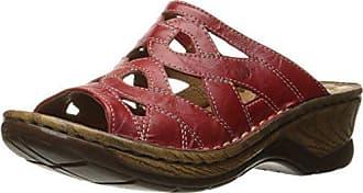 60b737fb360 Josef Seibel Womens Catalonia 44 Slide Sandal Red 41 EU 10-10.5 M US