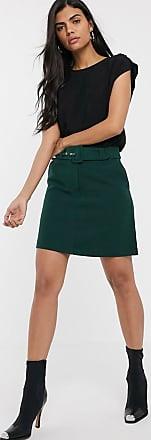 Warehouse a-line mini skirt in green