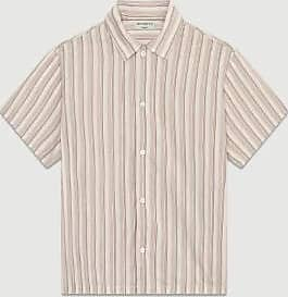Éditions M.R Ecru Brown Eric 80 Streifen Shirt - 37