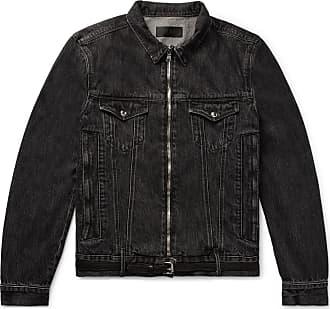 Rta Belted Distressed Denim Jacket - Black