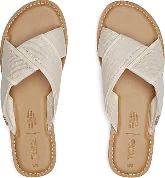 Toms Viviana Natural Shimmer Canvas Sandalen für Damen - 6.5