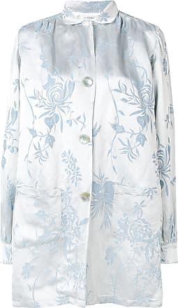 Forte_Forte floral shirt jacket - Blue