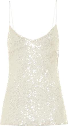 Galvan Moonlight sequined bridal camisole