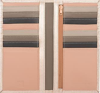 DuDu Portafoglio Donna RFID in Pelle Rosa Schermato Grande con 16 Tasche Porta Carte di Credito Ballerina