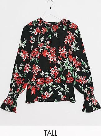 Y.A.S. Tall Davida volume sleeve floral blouse-Multi