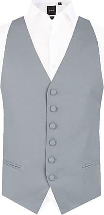 Dobell Mens Dove Grey Backless Morning Suit Wedding Waistcoat Regular Fit-L (42-44in)