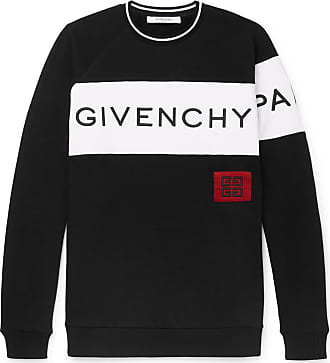 Givenchy Logo-embroidered Fleece-back Cotton-jersey Sweatshirt - Black 41114bd9221c