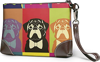 GLGFashion Womens Leather Wristlet Clutch Wallet Honey Puppy Storage Purse With Strap Zipper Pouch