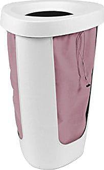 Rotho 1003090001 cesto portabiancheria Fabu/Cesto Portabiancheria in Bianco con sue nehm barem lavanderia in pastello rosso/1 X (40, 8 X 40 X 62, 1 cm) per
