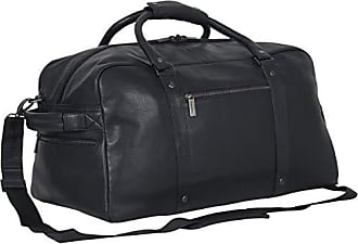 Kenneth Cole Reaction Kenneth Cole Reaction Mens 20 Leather Top Zip Travel with RFID Duffel Bag Black One Size