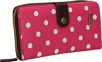 Swankyswans Becky Classic Polka Dot Faux Leather Womens Bi-fold Long Wallet Clutch Purse Fuchsia Pink