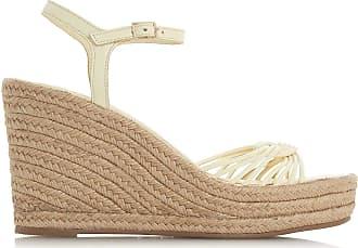 Dune London Dune Ladies Womens KIKII Knot Detail Wedge Sandals Size UK 8 Yellow Wedge Heel Wedges