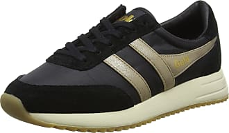 Gola Womens Montreal Mirror Trainers, Black (Black/Gold/Off Wht by), 3 UK 36 EU