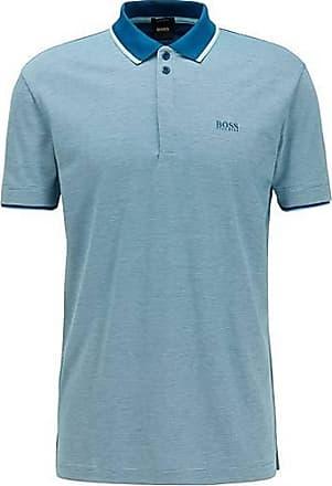 BOSS Poloshirt aus Baumwoll-Piqué mit feinem dreifarbigem Muster