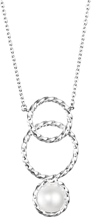 Efva Attling Twisted Orbit Necklace - Pearl Necklaces