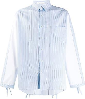 J.W.Anderson Camisa listrada com mangas contrastantes - Azul