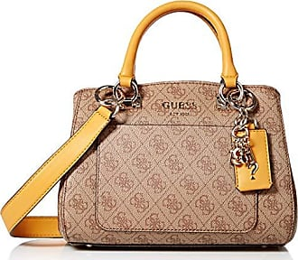 Guess Kathryn Small Girlfriend Satchel, Brown/Multi, One Size
