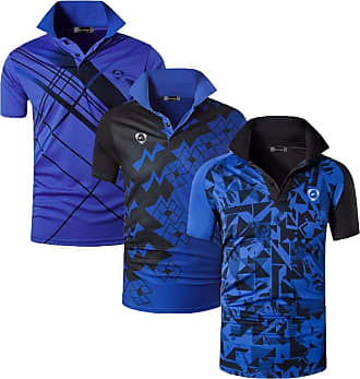 Jeansian Mens 3 Packs Sport Quick Dry Polo T-Shirt LSL226_224_279 Blue M