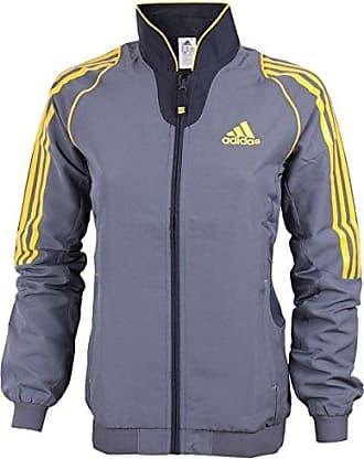 Adidas Kapuzenjacke Sweatjacke Jacke Sport Damen grau orange Trainingsjacke NEU