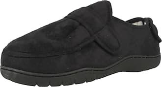 Spot On Adult Multi Hook & Loop Slippers 2014-20 Black Size 5-6