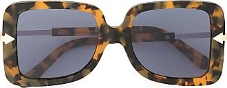 Karen Walker Eden square-frame sunglasses - Brown