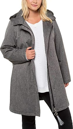 Ulla Popken Womens Mantel, 3X-Wetterfunktion, Kapuze, Futter Coat, Grey (Anthracite 12), UK 28