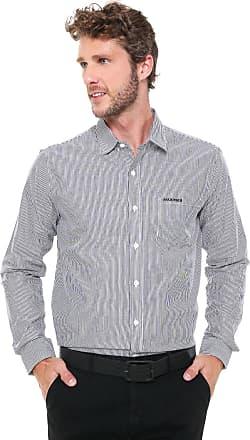 aded847ec4 Mr Kitsch Camisa Mr Kitsch Reta Listrada Preta Off-White