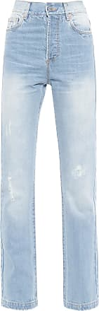 N.Y.B.D. Calça Reta Longa - Azul