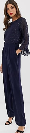 Y.A.S flute sleeve jumpsuit-Navy
