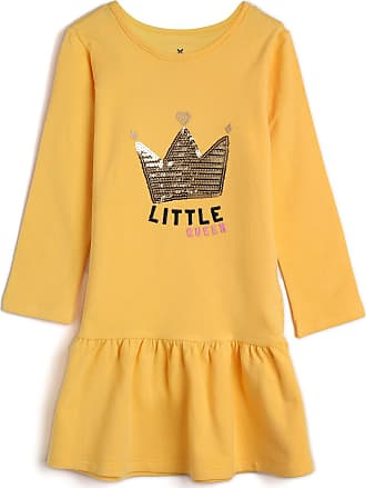 Hering Kids Vestido Hering Kids Infantil Little Queen Amarelo