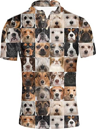 Hugs Idea Dogs Printed Mens Golf Polos Shirt Summer Casual¡¡Pique Poloss T-Shirt Tee Soft Short Sleeve