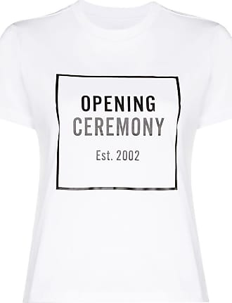Opening Ceremony box logo cotton T-shirt - Branco