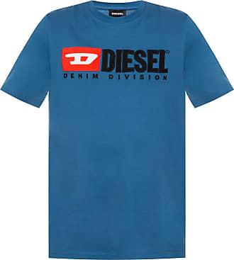 Diesel Branded T-shirt Mens Blue