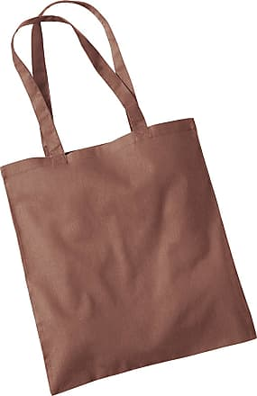 Westford Mill Womens Cotton Promo Shoulder Tote Carry Bag Chestnut One Size