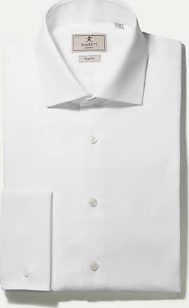 Hackett Mens Slim Fit Marcela Double Cuff Shirt   Size 180   White
