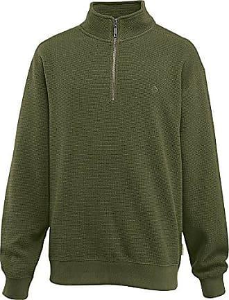 Wolverine Mens Big-Tall Denton Beefy Flat Back Waffle Knit Zip Sweatshirt, Olive, 3X-Large