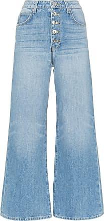 Eve Denim Calça jean Charlotte pantalona - Azul