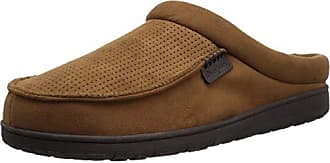f49afba4fbf Dearfoams Mens Perforated Moc Toe Clog in Wide Width Slipper