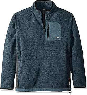 Quiksilver Mens Bigger Boat Neck Half Zip Fleece Jacket, Orion Blue Heather, S