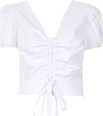 Isolda Top Realce franzidos - Branco