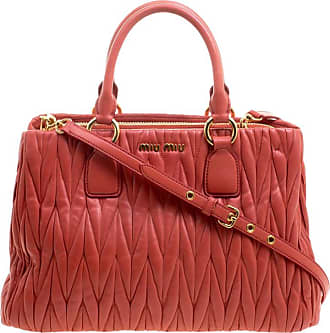 Miu Miu Miu Miu Red Matelasse Leather Shopper Tote f59657f2afa72