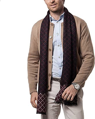 iShine Mens Winter Classic Cashmere Feel Shawl Bussiness Casual Scarf Warm Long Fringe Tassel Plaid Scarves