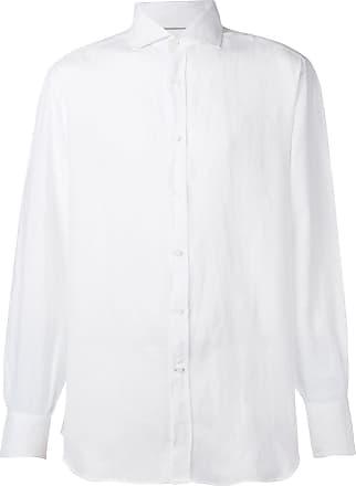 Brunello Cucinelli Camisa com colarinho pontiagudo - Branco