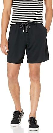 Quiksilver Mens Spacetime Scallop Fleece Bottom Casual Shorts, Black, X-Large