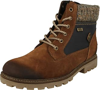 Remonte Ladies Knitted Cuff Detailed Boots D7466-20 - Brown Combination - UK Size 6.5 - EU Size 40 - US Size 8.5