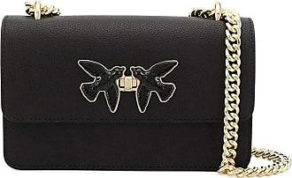 Pinko Womens Bag MOD. 1P21MK-Y65Z - White Black Size: 27 x 16 x 6.5 cm