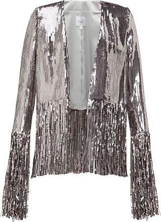 Galvan Stardust Fringed Sequinned Jacket - Womens - Silver