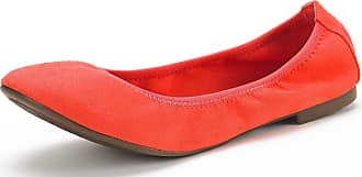 Dream Pairs Womens Slip On Round Toe Ballerina Ballet Flats Pumps Shoes Latte Coral Size 7.5 US/5.5 UK