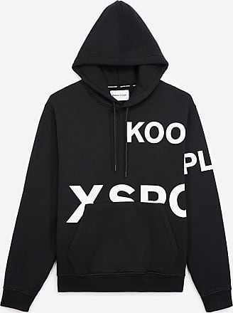 The Kooples Black hoodie with large white logo - MEN