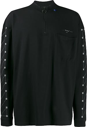 Off-white Arrows zip neck T-shirt - Preto